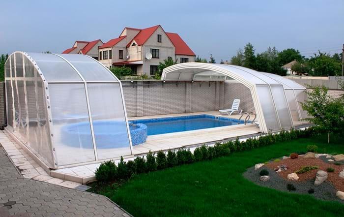 накрытие бассейна типа павильон